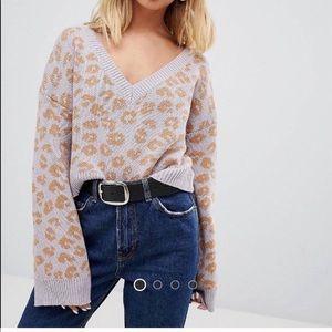 wild honey cheetah sweater